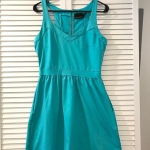 Cynthia Rowley Turquoise Fit and Flare Dress